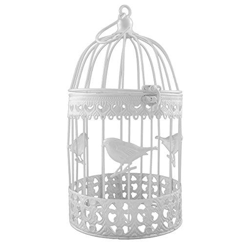 Décoration de cage à oiseaux en métal p-9025 blanc 32 x 17 cm