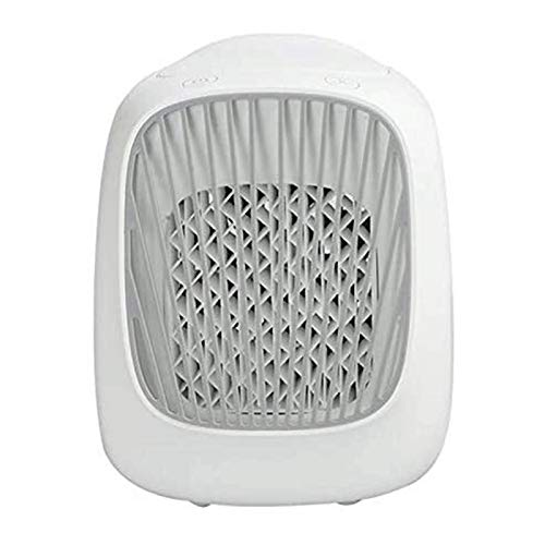 JeeKoudy Mini Desktop USB Household Humidifying Electric Cooling Fan Self-contained Filter Element Air Conditioner Moisturizing Fan (Color : White, Size : 140x155x175mm)