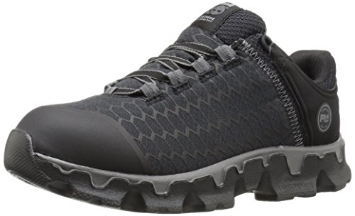 Timberland PRO Women's Powertrain Sport Soft Toe SD+ Industrial & Construction Shoe, Black Synthetic, 8 M US