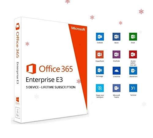 Office Enterprise E3 Office 365 Abbonamento Lifetime / 5 dispositivi / account per 1 user / spedizione Immediata / Fattura / Assistenza 7 su 7