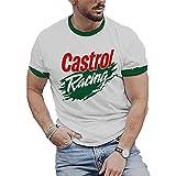 Camisetas con Estampado de Motociclistas de Carreras para Hombres Camisetas de Manga Corta con Cuello Redondo y Estilo Callejero