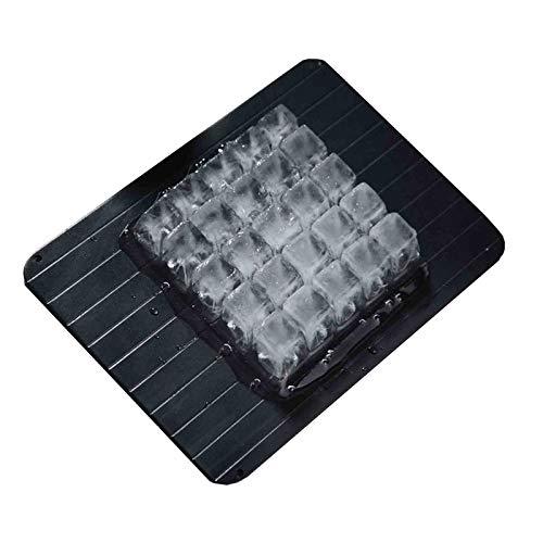 Platte Auftauen AGYH Schnell Abtauwanne, Schnell Abtauwanne for Tiefkühlkost In Der Küche, Lebensmittel Grad Aluminiumlegierung Material, Leicht Zu Reinigen, 3 Models (Size : 35.5X20CM)
