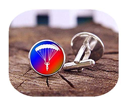 Boutons de manchette de parachute – Manchette parachutisme militaire – Sky plongée Boutons de manchettes