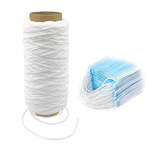 109 Yards 3mm Round Super Soft Elastic Cord Rope Band Ear Hanging Tape for Sewing Crafts DIY Face Mask