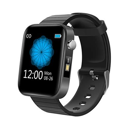 BEYI Orologio Intelligente Impermeabile IP67, 1,54 Pollici HD Schermo Bluetooth Smart Watch, Activity Tracker con Cardiofrequenzimetro, Contapassi, Monitoraggio del Temperatura Corporea - Nero