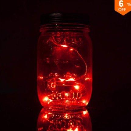 Innovation ey Licht Solar energie hanglamp glazen kruik lamp 8 LED parels tuinlandschap decoratieve verlichting