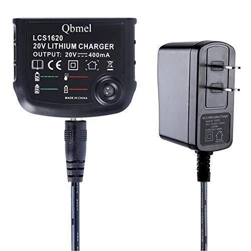 Qbmel 20Volt Li-Ion Battery Charger Replacement for Black+Decker LCS1620 MAX 20V Lithium Ion Battery LBXR20 LBXR20-OPE LB20 LBX20 LBX4020 LB2X4020 LBXR2020-OPE