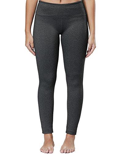 Wingslove Women's Yoga Pants Flex Running Yoga Leggings Tummy Control Mid Waist?S,Charcoal