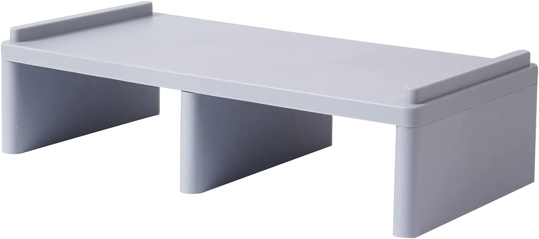 LAJAR Monitor Stand Computer Riser Desk Shelf Storage, Desktop Stand Organizer for Office Home (Gray)
