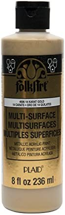 FolkArt Multi Surface Specialty Effect Paint in Assorted Colors 8 oz Metallic 14K Gold product image
