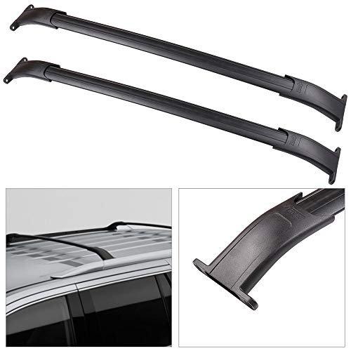 cciyu Roof Rack Crossbar Fit for 2015-2020 Chevy Suburban for Chevy Tahoe for Cadillac Escalade for Cadillac Escalade ESV for GMC Yukon for GMC Yukon XL 2pcs Aluminum Car Top Luggage Carrier Rails