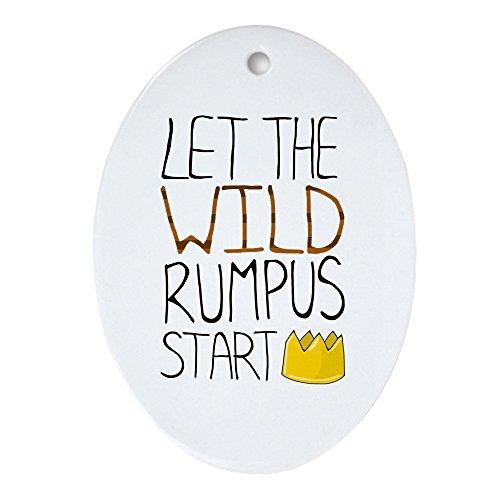 CafePress – Wild Rumpus 'Ornement ovale (ovale) – Vacances de Noël Ornement