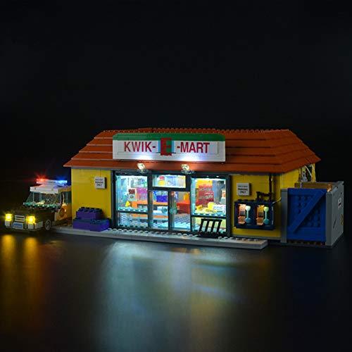 iCUANUTY Kit de Iluminación LED para Lego 71016, Kit de Luces Compatible con Lego Simpsons Kwik-E-Mart (No Incluye Modelo Lego)