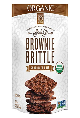 SHEILA GS Organic Chocolate Chip Brownie Brittle, 5 OZ