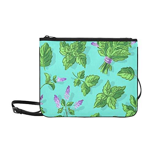 Yushg Umhängetasche Coole Sommer Schöne Minze Topf verstellbare Schultergurt Mädchen Tasche Mode für Frauen Mädchen Damen Mode Make-up Tasche Arbeit Handtasche
