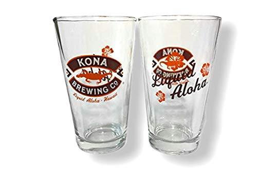 Kona Brewing Company Flüssiges Aloha-Glas, 473 ml, 2 Stück
