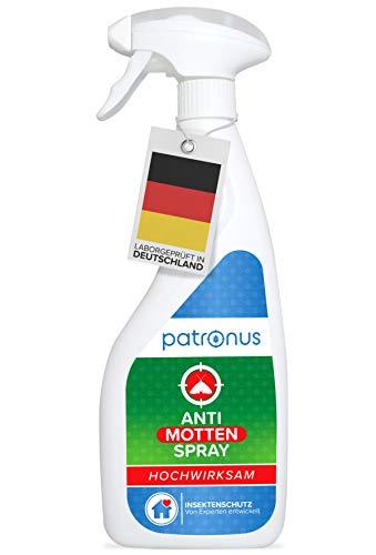 Motten-Spray für Lebensmittelmotten & Kleidermotten 500ml biologisch abbaubar - Mottenschutz & Mottenbekämpfung für Kleiderschrank & Textilien - Mittel gegen Motten als Mottenfalle-Alternative