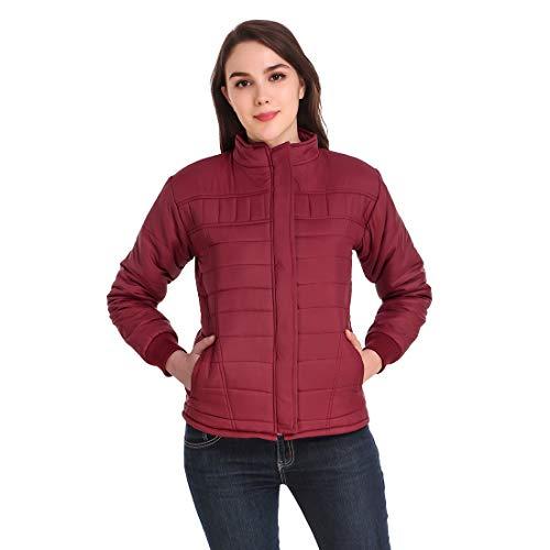 Kiba Retail Winter wear Casual Full Sleeve Polyester Blend Maroon Color Jacket Size (M, L, XL) for Women/Girls Single
