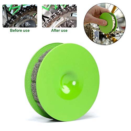 Fahrradketten Getriebeöler, Fahrradpflege-Werkzeug, PVC und Filz Material keine schmutzigen Hände, einfache Lagerung