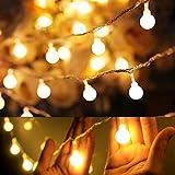 フェアリーライト電飾led イルミネーションライト 電池式 クリスマス 飾りツリー led電球庭 ライト屋外防水イルミ室内枕元 ライト ledに適してベッドルーム|アウトドア|結婚式|庭対応|誕生日 (ウォームホワイト)