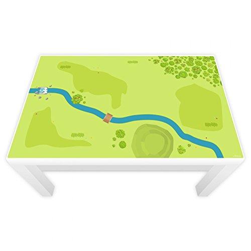 nikima Vacker för barn lekfolie för lackbord 89 x 54 cm skog & wiese (möbler ingår ej)