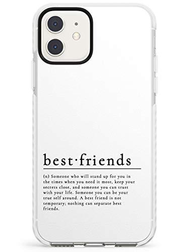 Eleganti Word Definizioni: Best Friends Impact Cover per iPhone 11 TPU Protettivo Phone Leggero con Testo Dizionario Definire Formulazione Font di