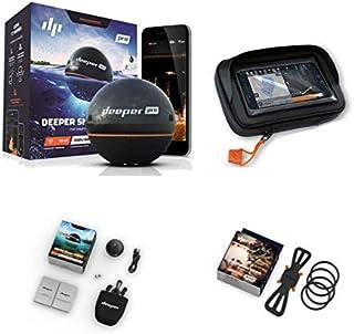 Deeper Smart Sonar Pro - Set de buscador de peces con WiFi y soporte para smartphone y funda XL