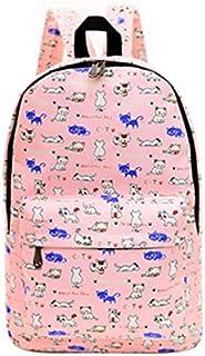 Canvas Backpacks Persian cat printed School Bags For girls students Shoulder Bag