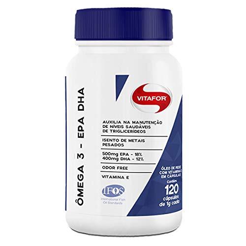 Kit 3 ômega 3 EPA DHA 1000mg Vitafor 120 cápsulas