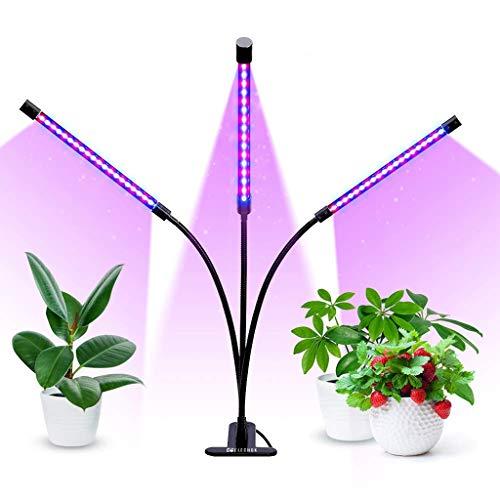 Drei LED Pflanze Wachsen Lichter, Innen- Das Ganze Spektrum Photosynthese Sonnenschein Haushalt Blumen Grüne Pflanze Sukkulenten Bonsai Fülle Licht (Size : Three tube)