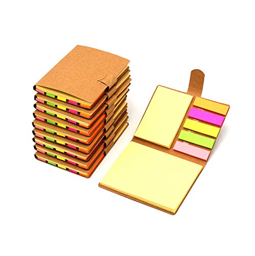 Tueascallk 10 Packs Combination Sticky Notes, Pop-up Self-Adhesive Notes, 3.2' x 4.1', 200 Sheets/Pack