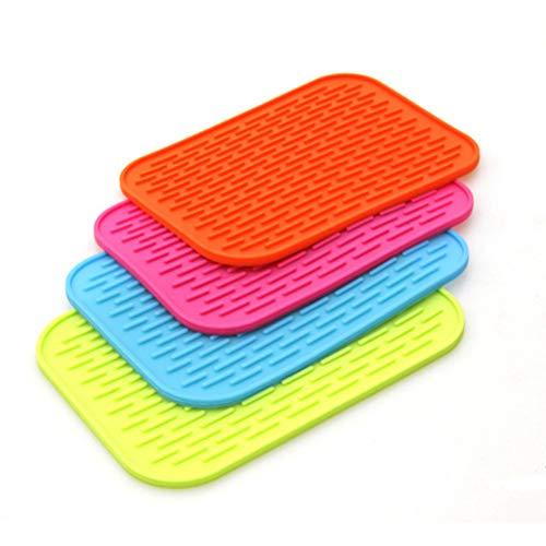 Set di sottobicchieri in silicone per auto in gomma per tavolo da pranzo auto set sottobicchieri in silicone antiscivolo 4 pezzi per set in colori misti
