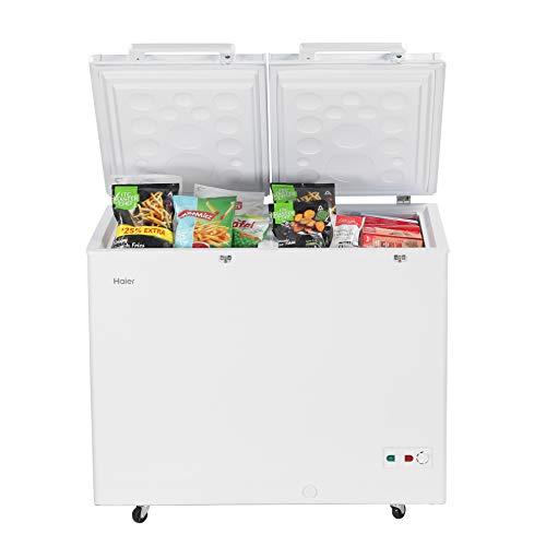 Haier - Double Door Hard Top Deep Freezer HCC 345HCDD , 319 liters, White, Convertible