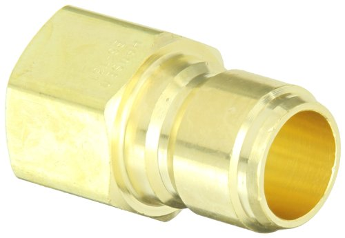 Eaton Hansen B6T31 Brass Straight Through Ball Lock Hydraulic Fitting, Plug, 3/4