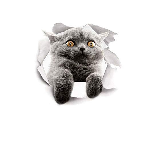 VektenxiNette Katze gedruckt WC Deckel Aufkleber DIY Wall Art Decal Home Decor langlebig und nützlich