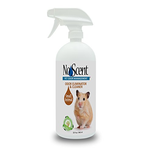 No Scent Small Animal - Professional Pet Waste Odor Eliminator & Cleaner - Safe All Natural Probiotic & Enzyme Formula Smell Remover for Hutches Tanks Enclosures Bedding Toys and Surfaces (32 oz)