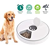 PAWSTRUST Automatic Pet Feeder for Cats Dogs Rabbits & Small Animals,6 Meal Trays Dry Wet Food Water Auto Feeder, with LCD Display Programmable Digital Timer,Portion Control Food Dispenser Feeder