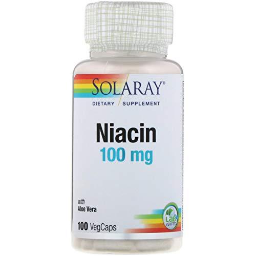 Solaray Niacin 100 mg, Vitamin B3   Skin Health, Cardiovascular, Nervous System & Circulation Support   100ct