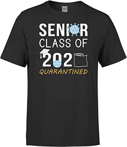 MazaaMode Senior Class of 2020 Shirt - Quarantine T-Shirt Gift Black