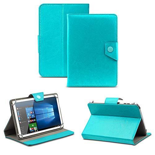 NAUC Universal Tasche Schutz Hülle Tablet Schutzhülle Tab Hülle Cover Bag Etui 10 Zoll, Farben:Türkis mit Magnetverschluss, Tablet Modell für:Allview Wi10N PRO 10.1