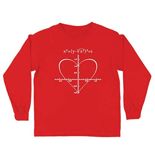 lepni.me Camiseta para Niño/Niña Fórmula de Matemáticas del Amor Ecuación matemática Regalo para el Profesor