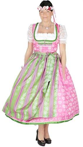 Krüger 9852 Manufaktur Dirndl 85er pink grün Size 34