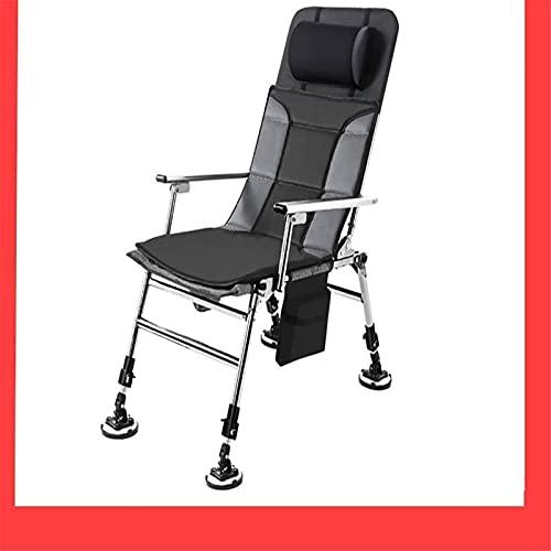 Sillón reclinable Sillas de pesca al aire libre con patas extensibles, silla...