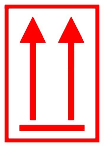 Stickers voor gevaarlijke goederen rode pijlen etiketten sticker waarschuwing gevaar opmerking UN-Nr Limited Quantity 250 Stück