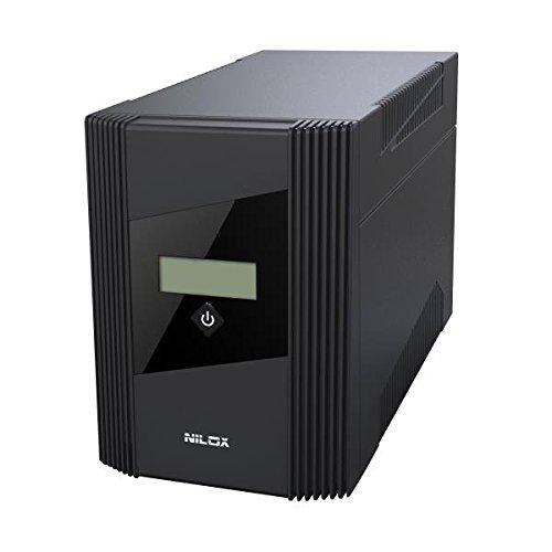 Nilox 17NXGCLI10001 Gruppo di Continuità UPS, 1500VA/900W, Display LCD, 4 Uscite, USB, RJ11 o RJ45