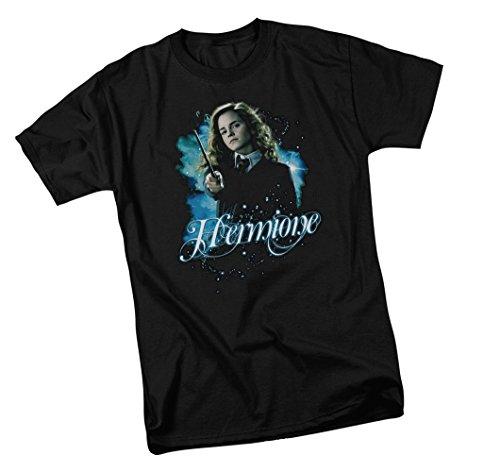 Harry Potter T-Shirt für Erwachsene, Hermione Zauberstab - Schwarz - 3X-Groß