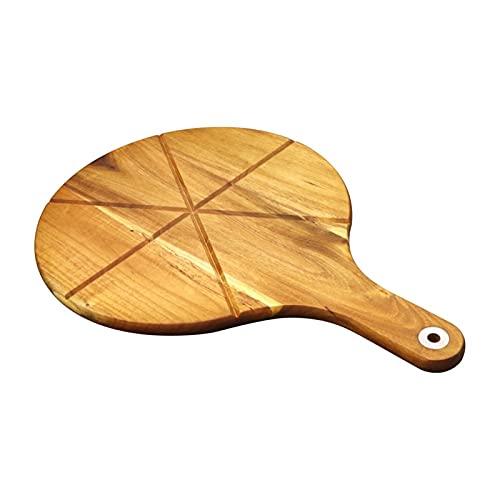 Acacia Tablero de pizza de madera Tabla de cortar Pizza Piedra Pizza Tablero de madera Tablero de paleta para hornear Pizza casera