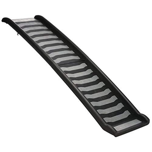 Trixie 39477 Klapp-Rampe, Kunststoff, 39 × 160 cm, schwarz/grau