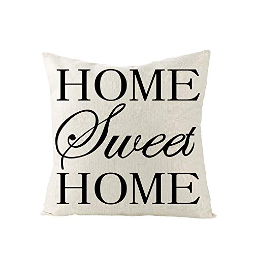 YXYLQ New Black Withe Letters Linen Pillow Cushion Cover Modern Geometry Print Simple Throw Pillows Livingroom Sofa/Seat Decor-45X45Cm_Jym100-_(6)