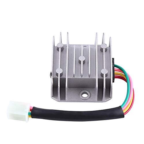 Regulador de voltaje de la motocicleta 4 cables 4 pines 12 regulador de voltaje rectificador para 150-250CC motocicleta ciclomotor ATV(Blanco)